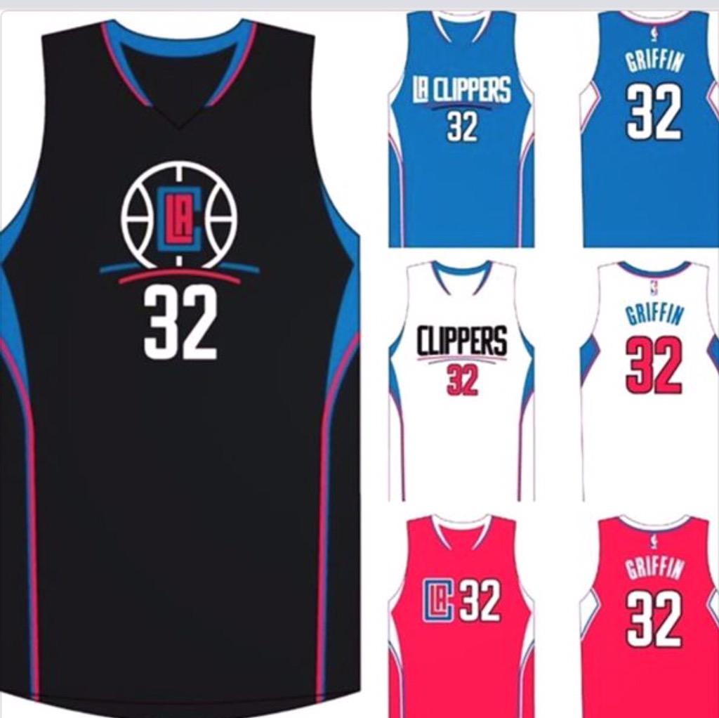 los angeles clippers black jersey