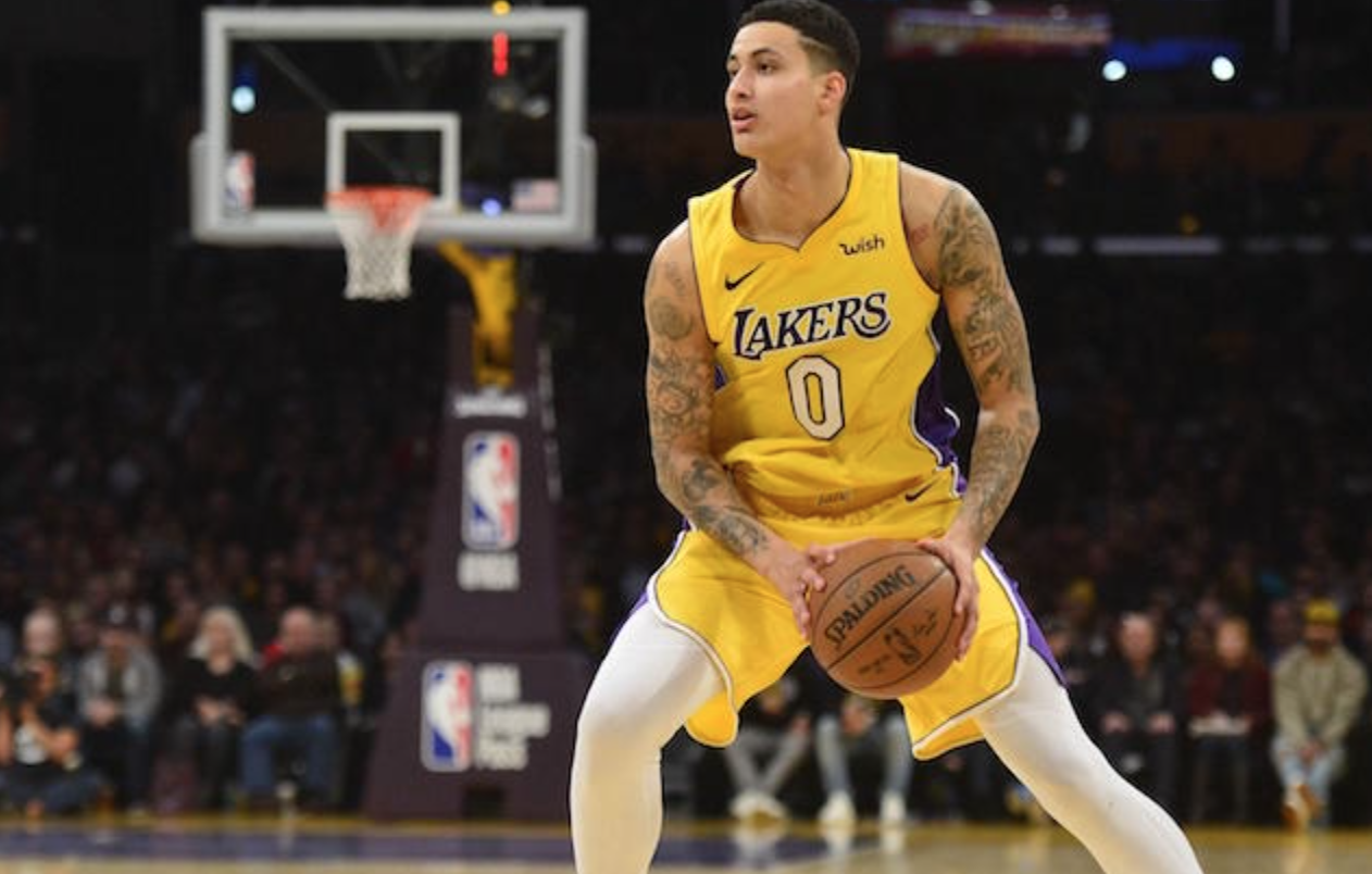 cheap for discount 74d23 e1f91 Kyle Kuzma Doesn't Return Due To Jammed Finger - CaliSports News