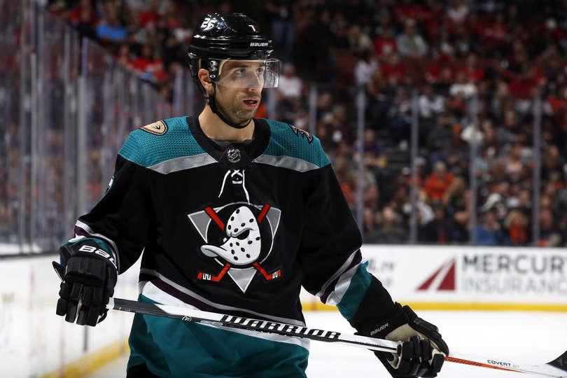 b8b13af03 ... that they brought back something very close to the original Mighty Ducks'  beautiful colors and logo for this season's third jerseys, which Anaheim  wore ...